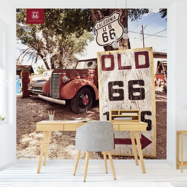 Fototapete - Route 66 - Alter Pick-up