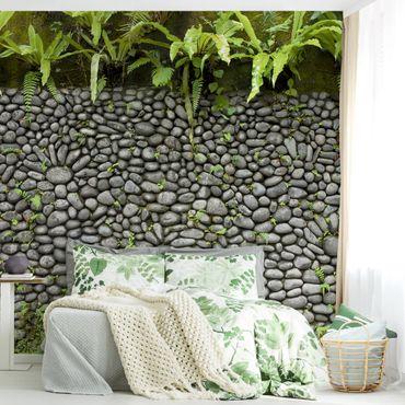 Fototapete Steinwand Mit Pflanzen
