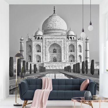 Fototapete - Taj Mahal mit Garten