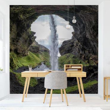 Fototapete Verborgener Wasserfall