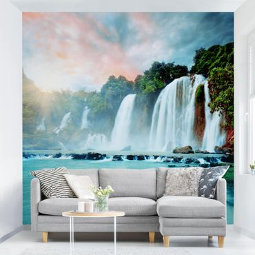 Fototapete Wasserfallpanorama