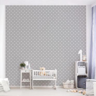 Fototapete Weiße Punkte auf Grau