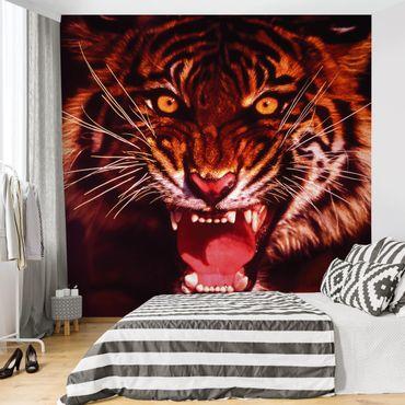 Fototapete Wilder Tiger