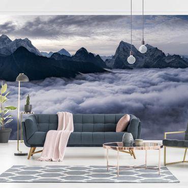 Fototapete - Wolkenmeer im Himalaya