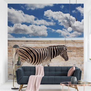 Fototapete Zebra in der Savanne
