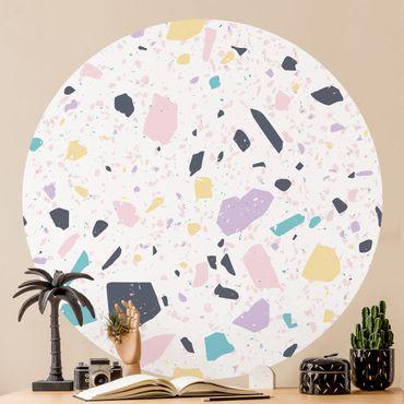 Runde Tapete selbstklebend - Terrazzo Muster Capri