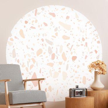 Runde Tapete selbstklebend - Terrazzo Muster Venezia