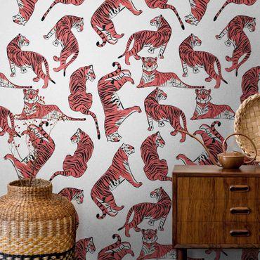 Metallic Tapete  - Tiger Muster