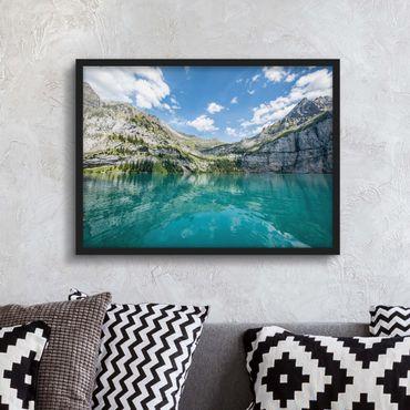 Bild mit Rahmen - Traumhafter Bergsee - Querformat
