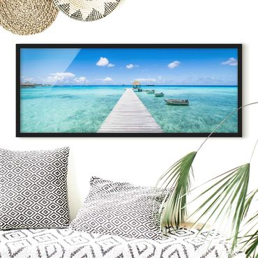 Bild mit Rahmen - Urlaub in den Tropen - Panorama