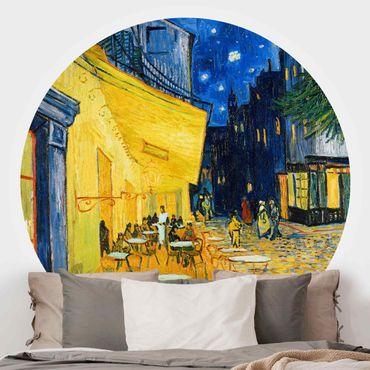 Runde Tapete selbstklebend - Vincent van Gogh - Café-Terrasse in Arles