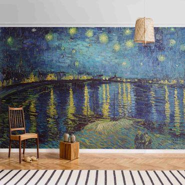 Metallic Tapete  - Vincent van Gogh - Sternennacht über der Rhône