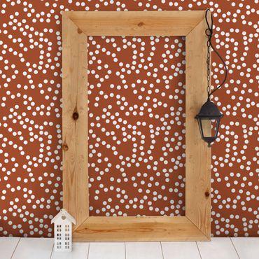 Fototapete Aborigine Punktmuster Braun