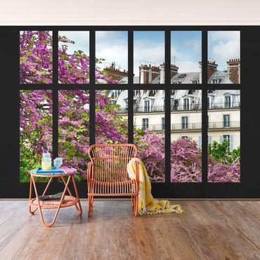 Fototapete Fenster Frühling Paris