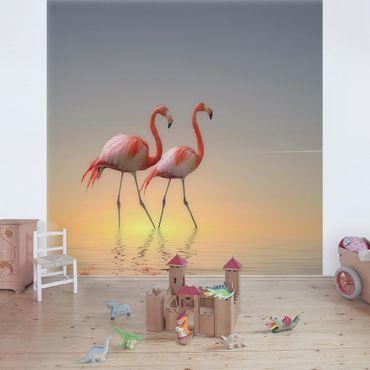 Fototapete Flamingo Love