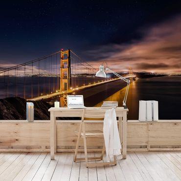 Fototapete Golden Gate to Stars