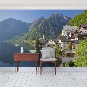 Fototapete Hallstätter See und Bergblick