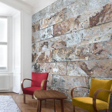 Fototapete Naturmarmor Steinwand