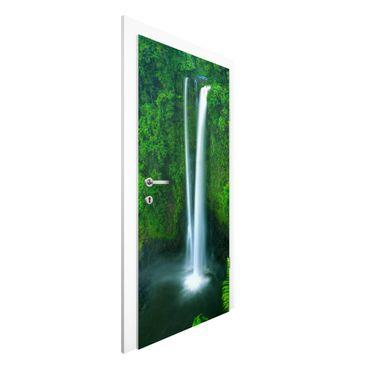 Türtapete - Paradiesischer Wasserfall