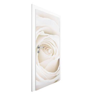 Türtapete - Pretty White Rose