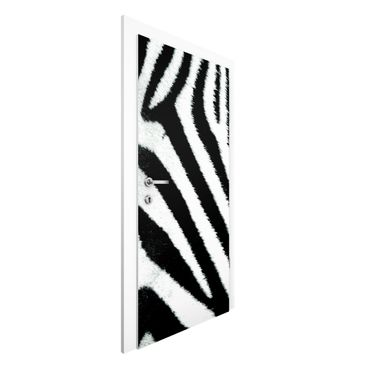 Türtapete - Zebra Crossing