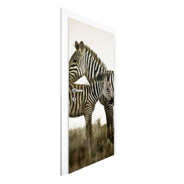 Türtapete - Zebrapaar