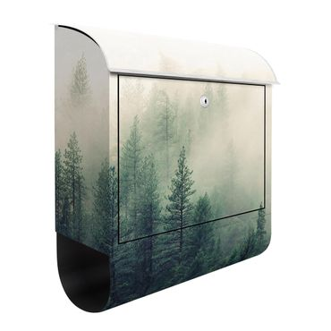 Briefkasten - Wald im Nebel Erwachen