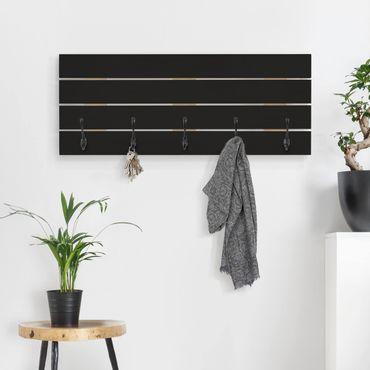 Wandgarderobe Holz - Colour Black