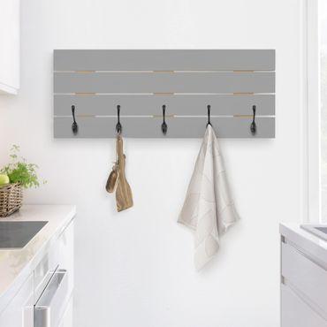Wandgarderobe Holz - Colour Cool Grey