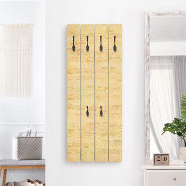 Wandgarderobe Holz - Die Musik vergangener Tage