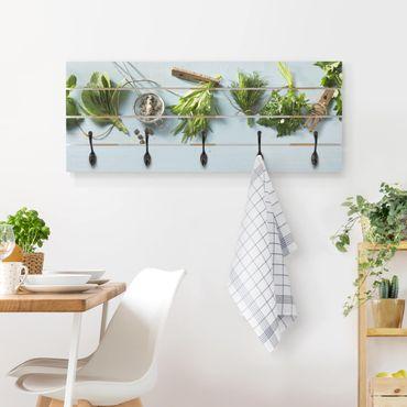 Wandgarderobe Holz - Gebündelte Kräuter