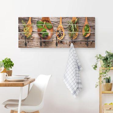 Wandgarderobe Holz - Kräuter und Gewürze