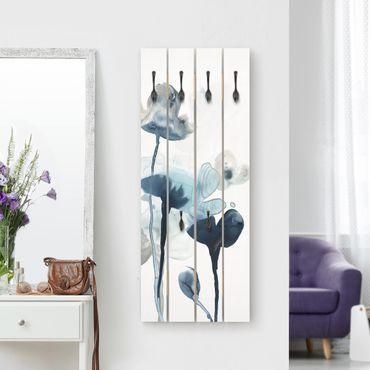 Wandgarderobe Holz - Mitternachtsblüten III