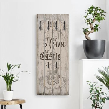 Wandgarderobe Holz - My Home is my Castle
