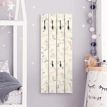 Wandgarderobe Holz - Pastel Plushies