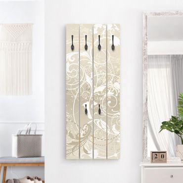 Wandgarderobe Holz - Perlmutt Ornament Design