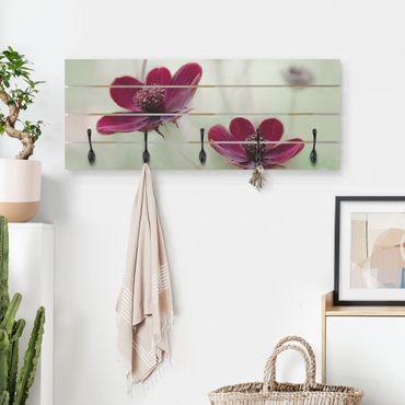 Wandgarderobe Holz - Pinke Kosmeen