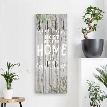 Wandgarderobe Holz - Shabby Tropical - Home is