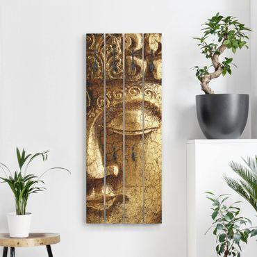 Wandgarderobe Holz - Vintage Buddha