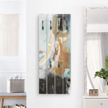 Wandgarderobe Holz - Wechselspiel Abstrakt I
