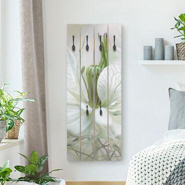 Wandgarderobe Holz - Weiße Nigella