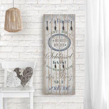 Wandgarderobe Holz - Zu Hause ist da
