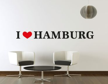 Wandsticker I Love Hamburg