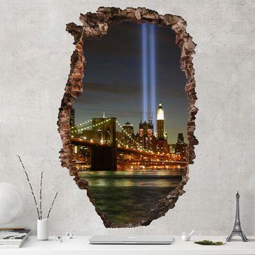 3D Wandtattoo - Gedenken an den 11. September - Hoch 3:2