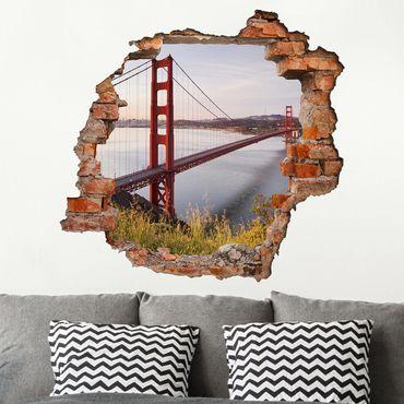 3D Wandtattoo - Golden Gate Bridge in San Francisco - Quadrat 1:1