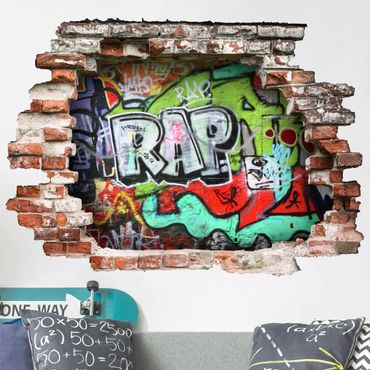 3D Wandtattoo - Graffiti - Quer 3:4