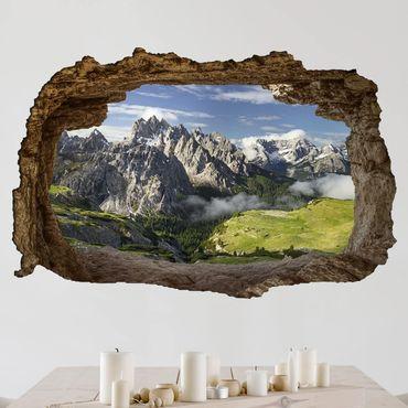 3D Wandtattoo - Italienische Alpen - Quer 2:3