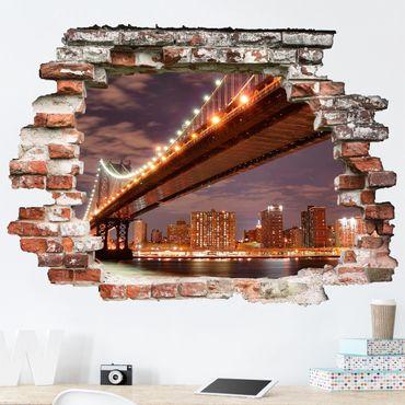 3D Wandtattoo - Manhattan Bridge - Quer 3:4