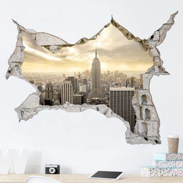 3D Wandtattoo - Manhattan Dawn - Quer 3:4