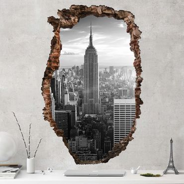 3D Wandtattoo - Manhattan Skyline - Hoch 3:2